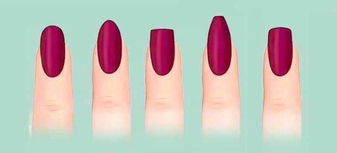 Как подобрать форму ногтей