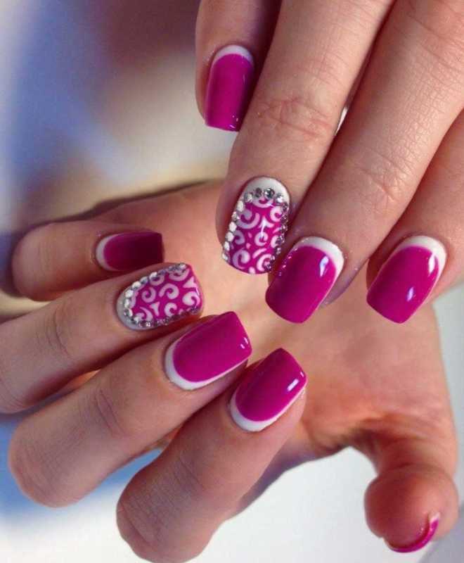 дизајн ноктите француски ткаеше пати