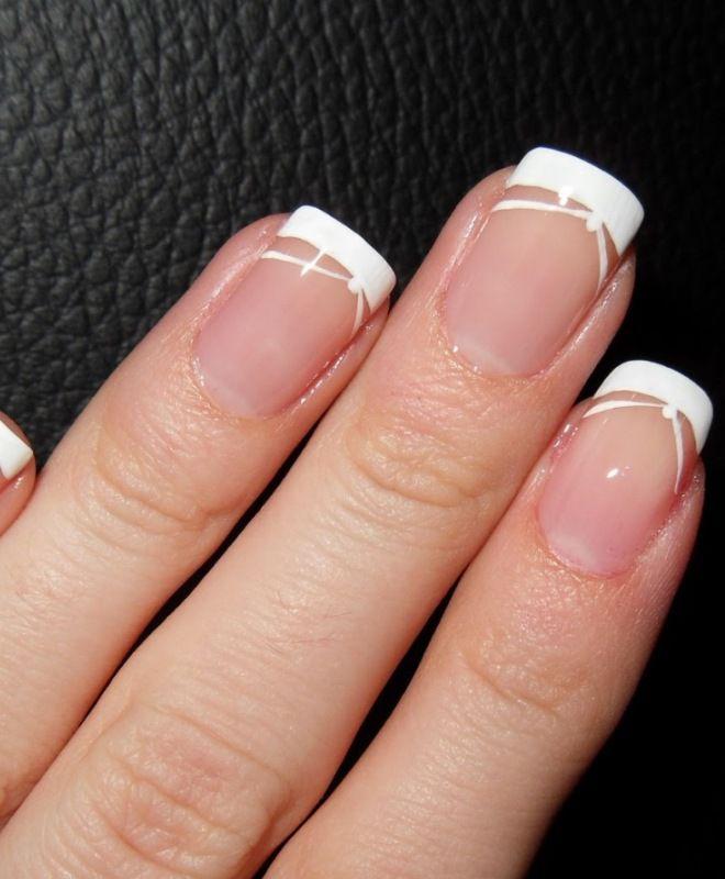 француски маникир за кратки нокти четири