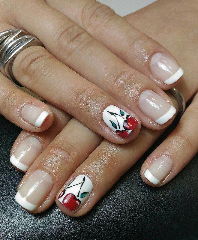 француски маникир за кратки нокти шест