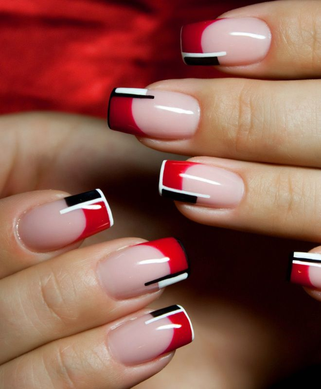 француски маникир на два долги нокти