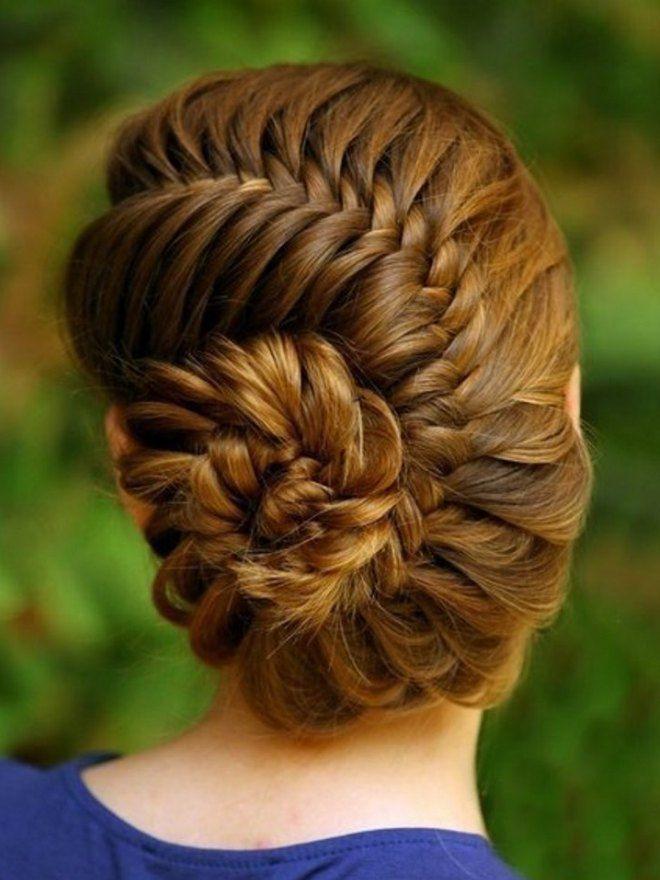 Прически на длинные волосы на каждый день четыре