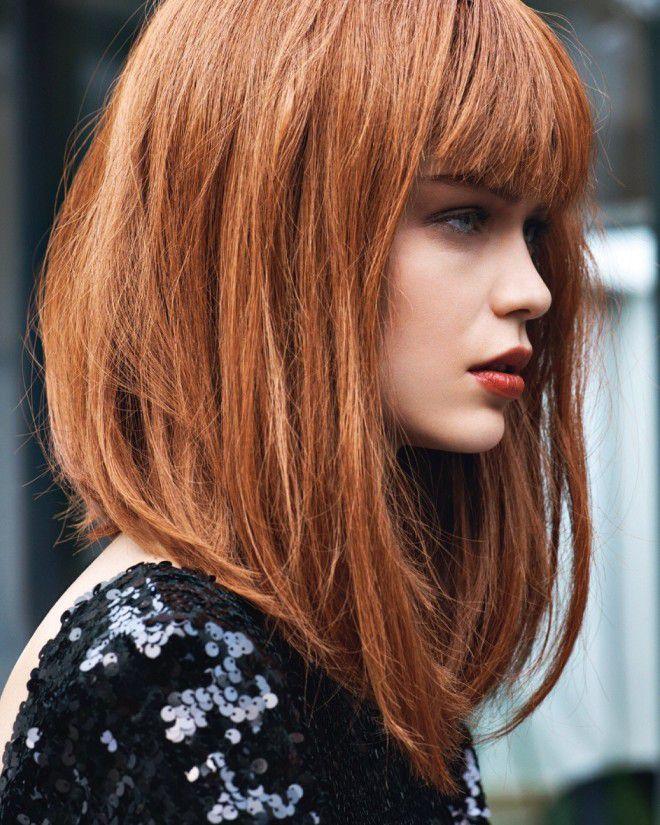 Удлиненный боб на средние волосы раз