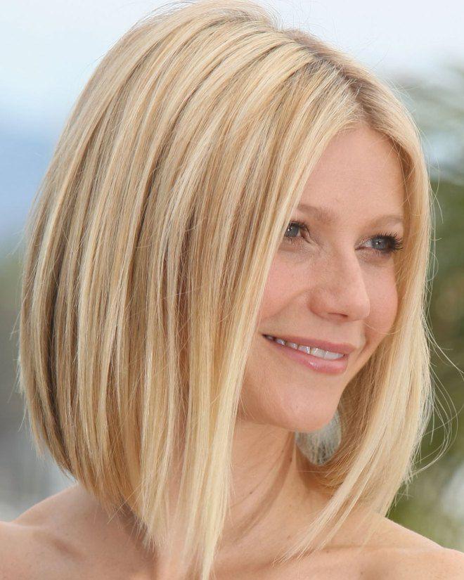 Удлиненный боб на средние волосы два
