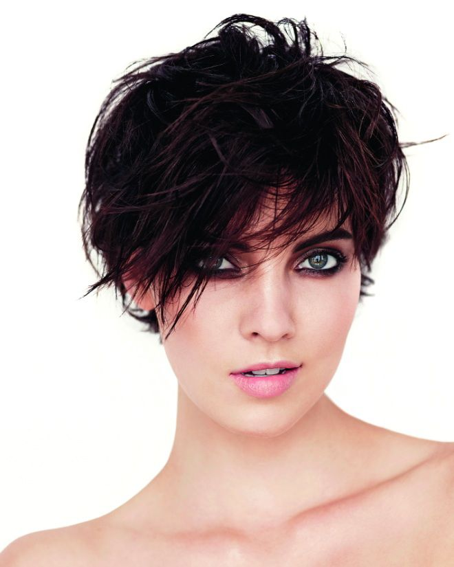 Рваный боб на средние волосы четыре
