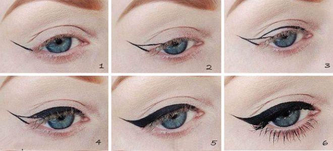 Eyeliner flèches étape par étape des options de soirée