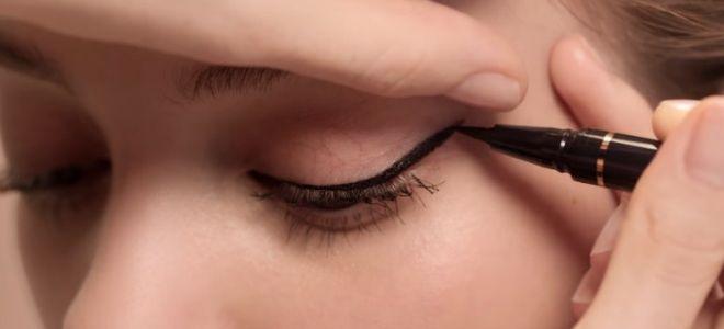 Comment dessiner des flèches avec eye-liner pour les débutants cinquième étape