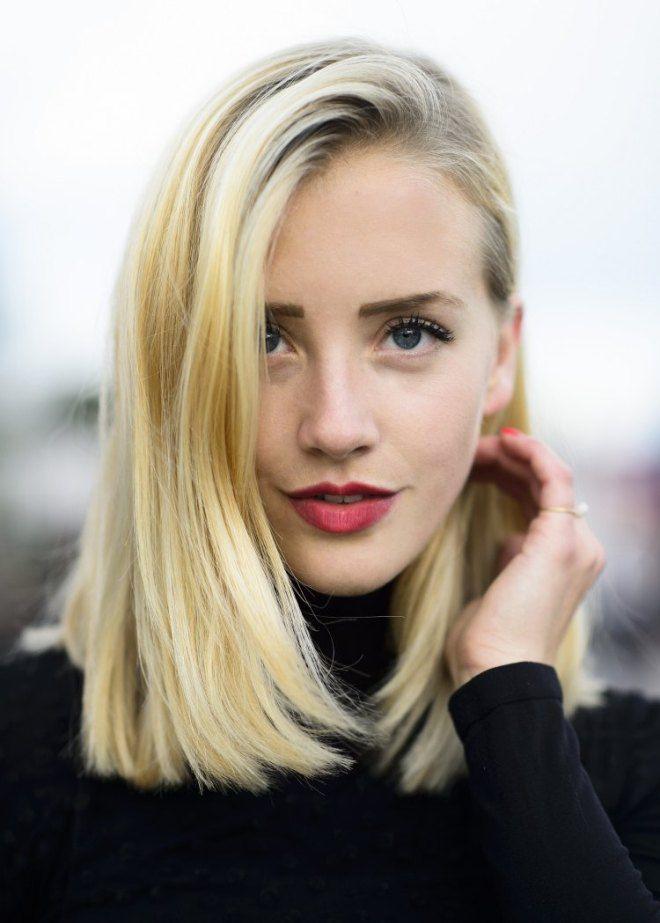 Причёски для прямых волос средней длины пять
