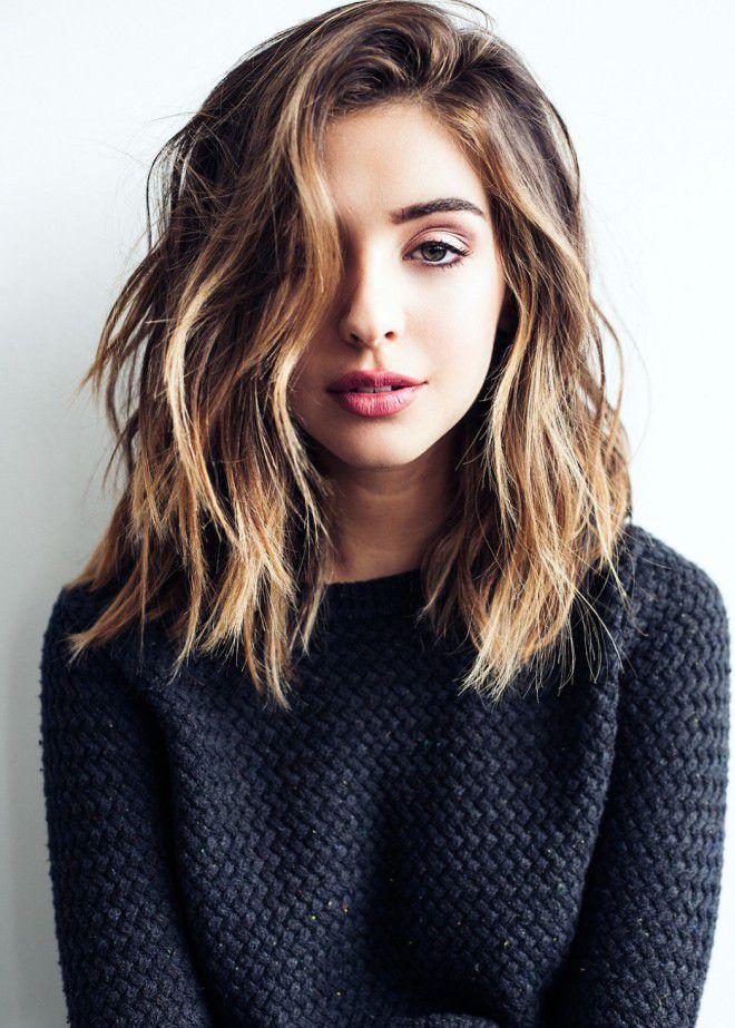 Повседневная укладка волос средней длины раз