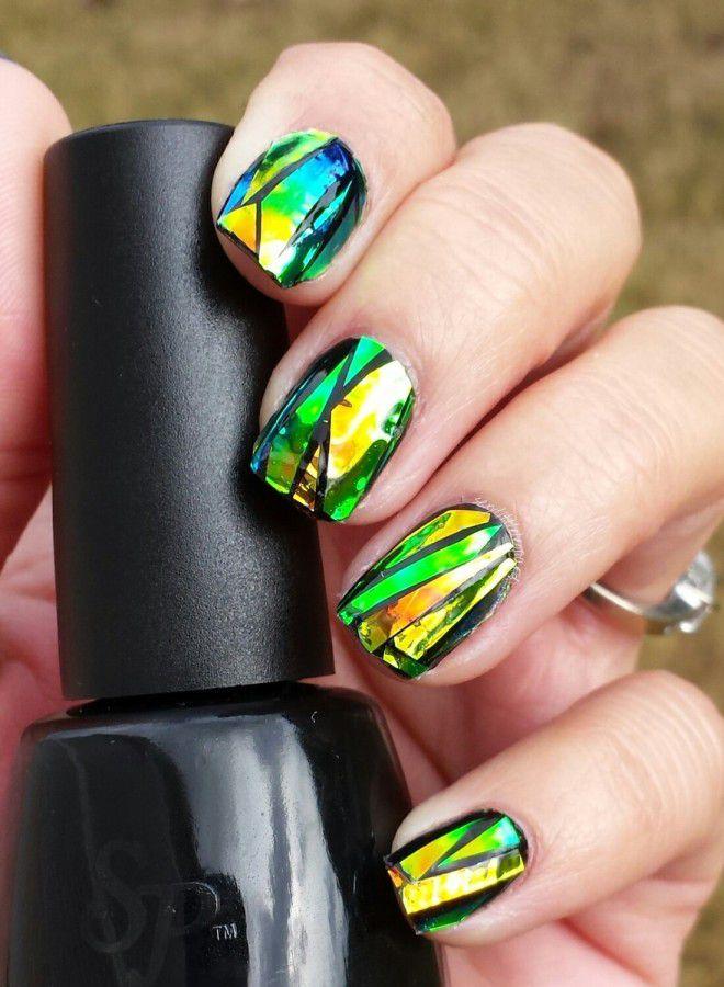 Brillantes uñas largas seis