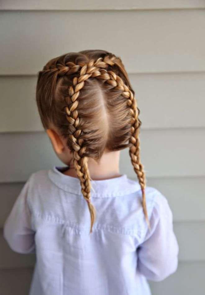 Прически на средние волосы для девочек шесть