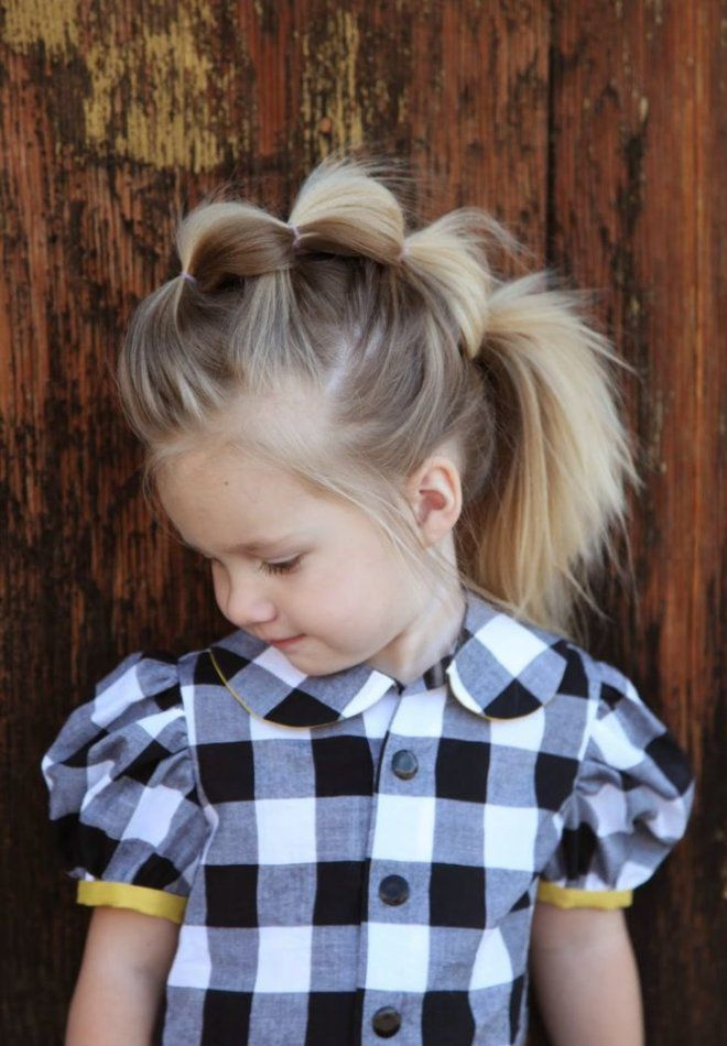 Прически на средние волосы для девочек раз