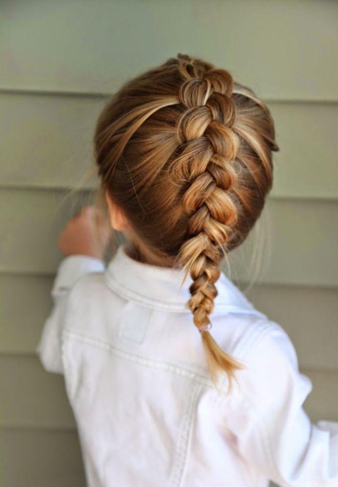 Прически на средние волосы для девочек два