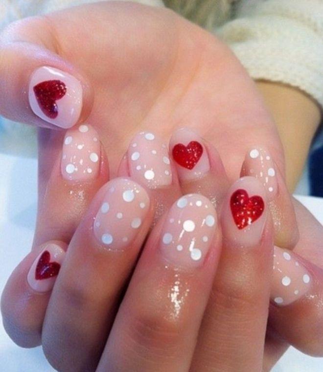 Дизайн с камифубиками на короткие ногти четыре