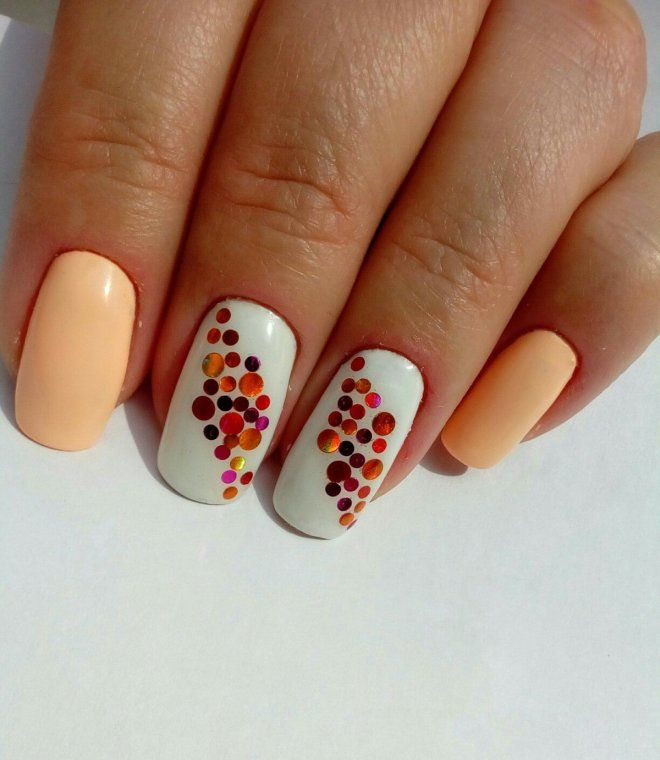 Дизайн с камифубиками на длинные ногти два