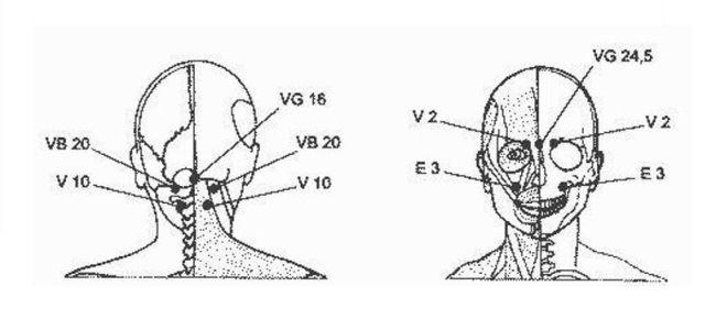 массаж при головной боли в области лба