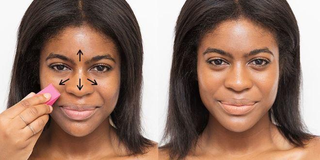 كيفية تطبيق الأساس اللوني على الوجه