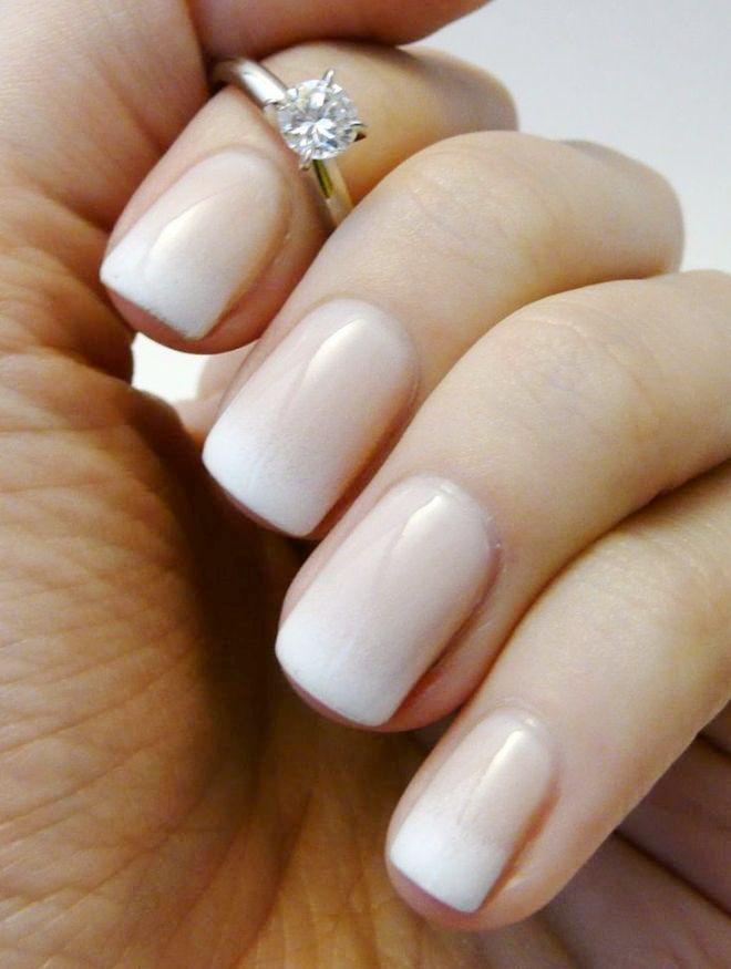 manicura suave gradiente francés