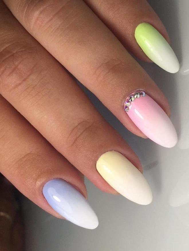 suave manicura ombre multicolor