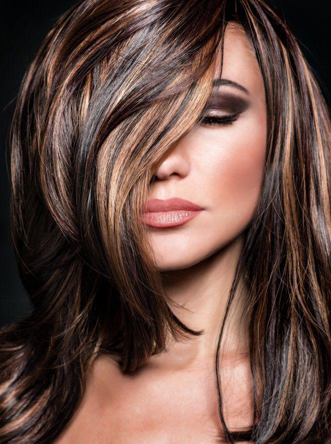 колорирование волос в коричневый фото сегодняшний момент ней