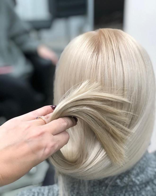 Airtouch техника окрашивания блонд пять