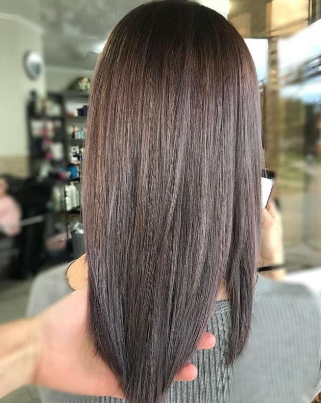 Airtouch окрашивание на темные волосы три