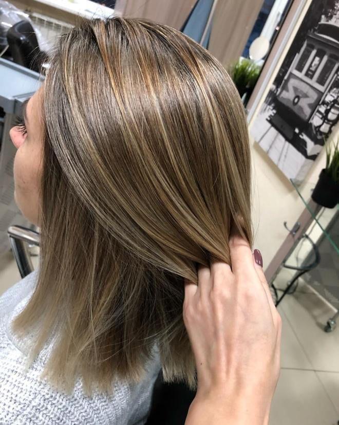 Airtouch окрашивание на свелые волосы раз