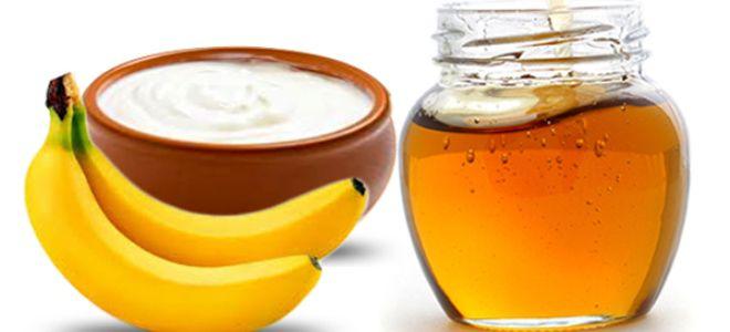 маска для лица с бананом и медом