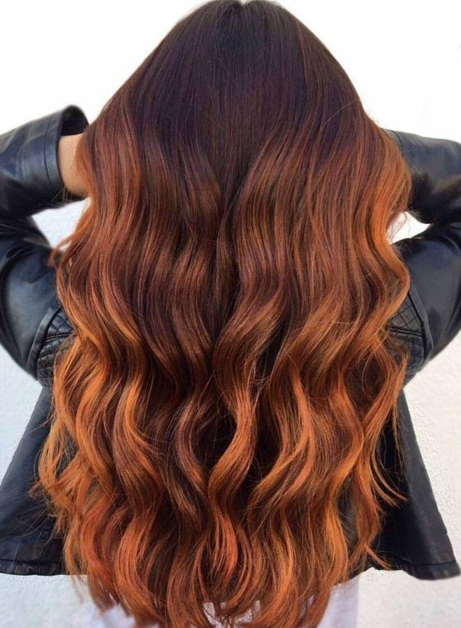 Омбре для рыжих волос раз