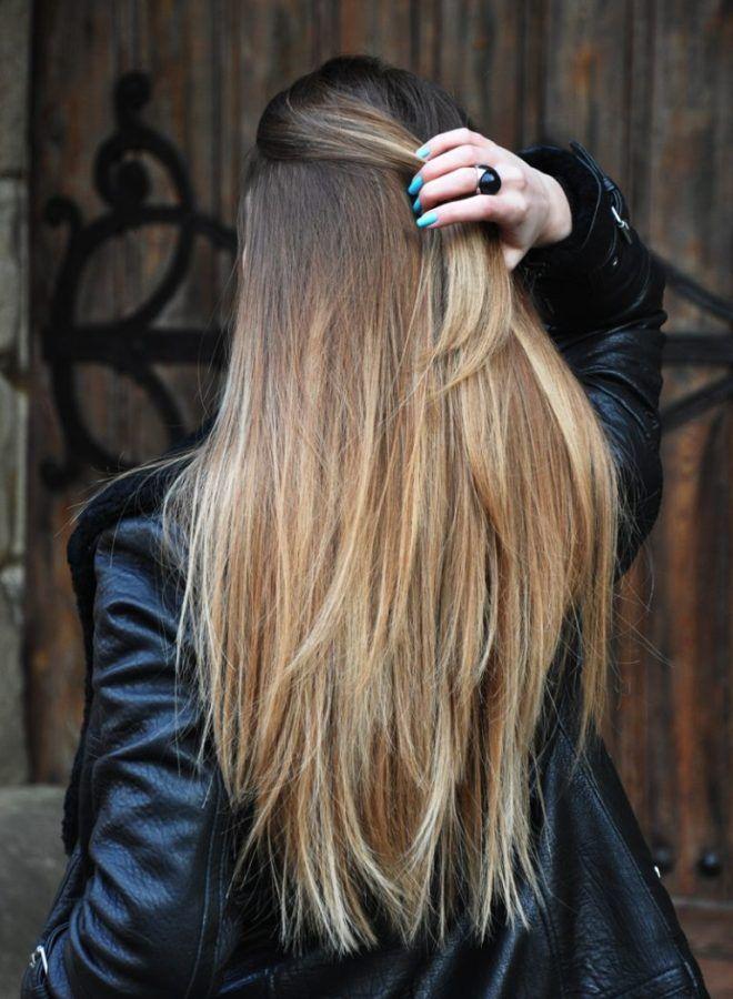Омбре для русых волос три