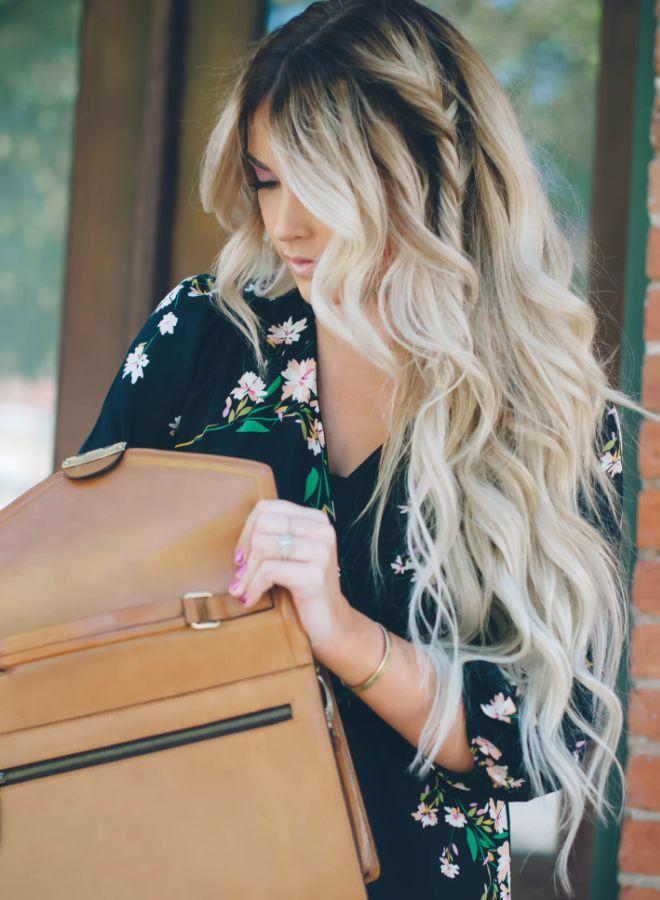 Омбре на длинные волосы два