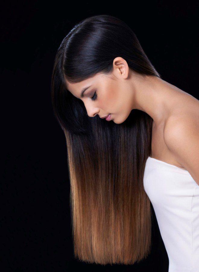 Омбре на длинные волосы три