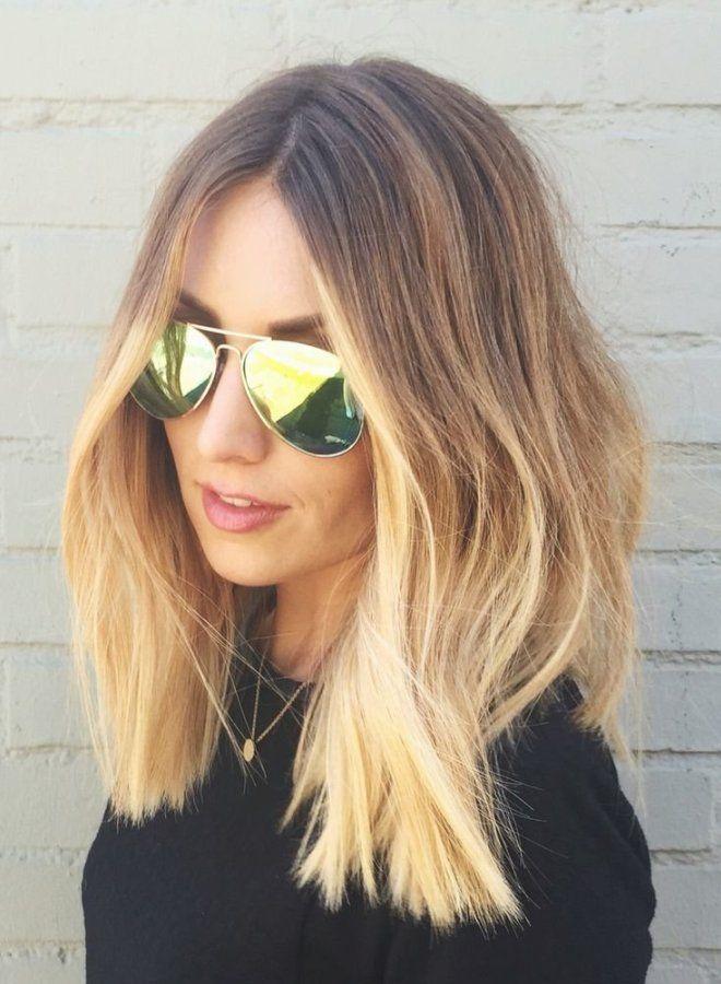 Омбре на волосы средней длины раз