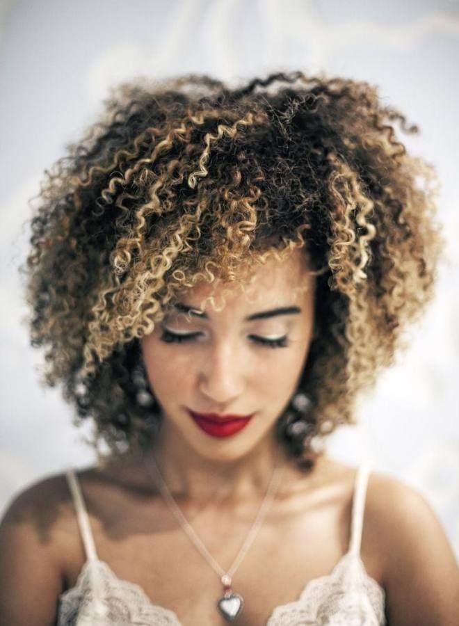 Афро кудри на средние волосы пять