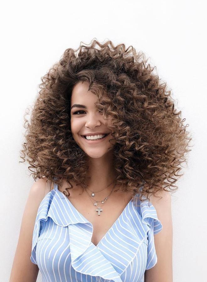 Афро кудри на средние волосы раз