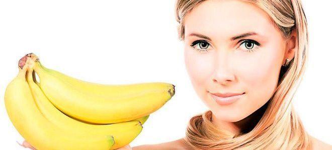 маска желатин банан
