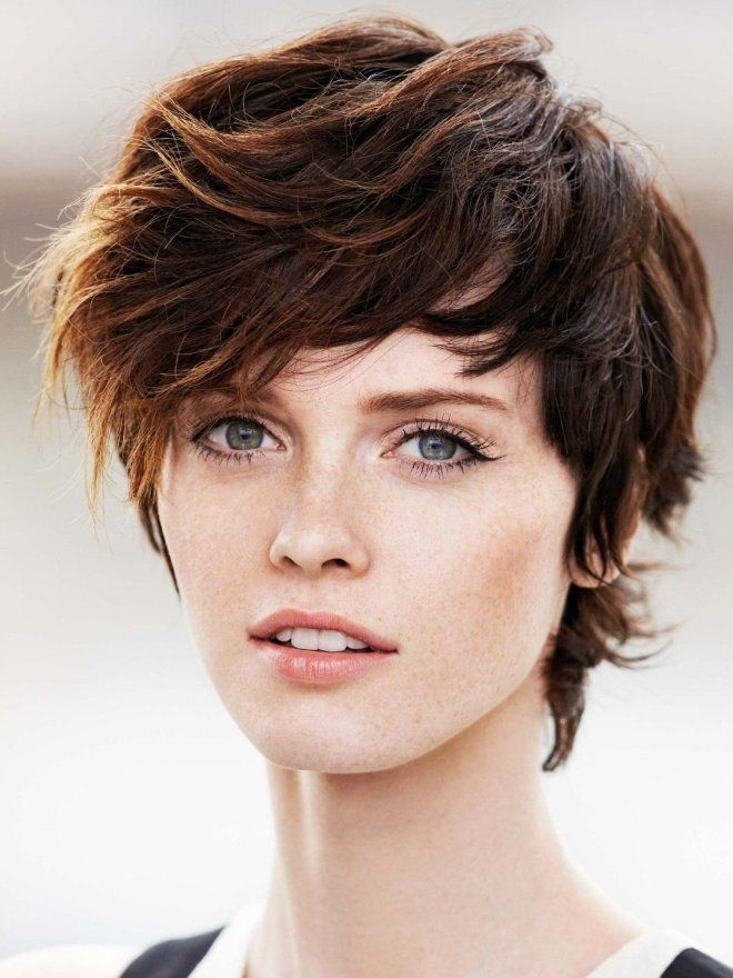 Oblique bangs on short hair five