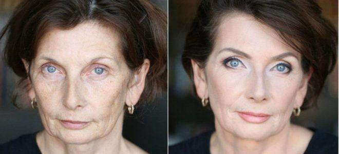 Омолаживающий макияж за 50 два