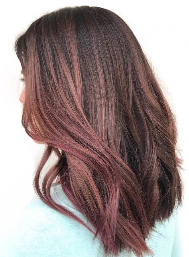 Волосы цвета молочного шоколада с розовым оттенком три