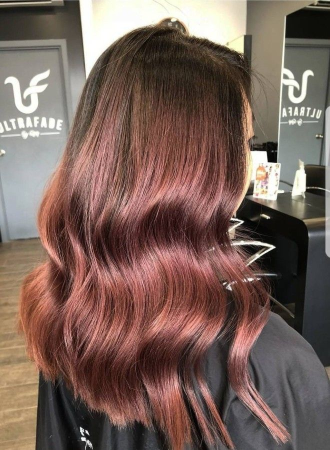 Волосы цвета молочного шоколада с розовым оттенком пять