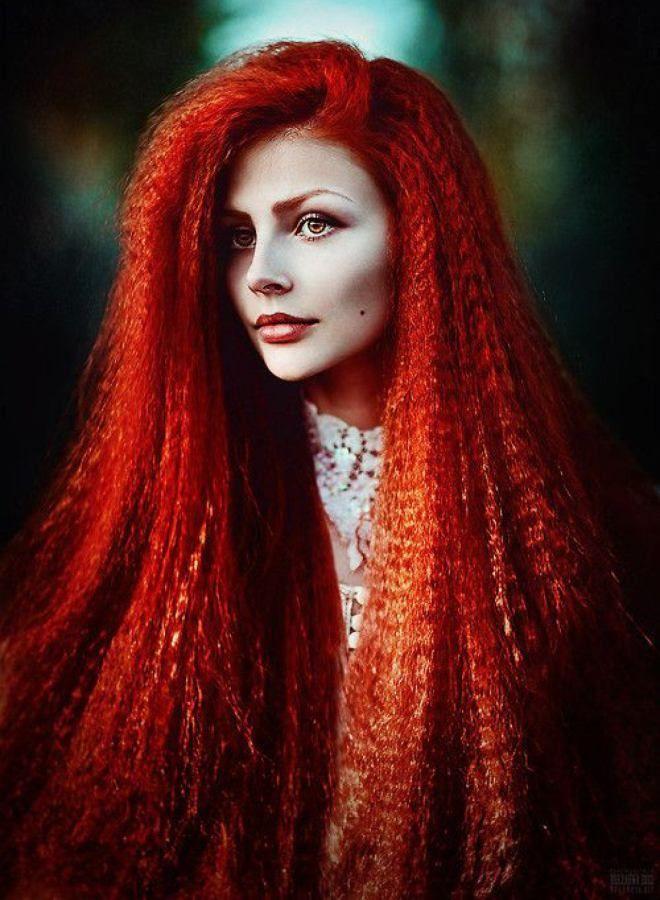 Огненно рыжие волосы четыре