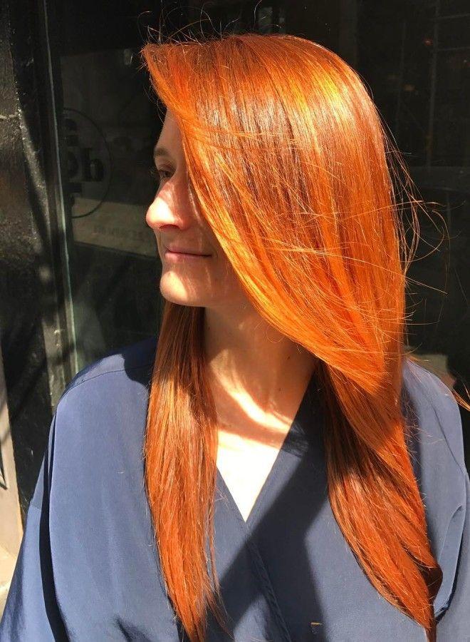 Огненно рыжие волосы пять