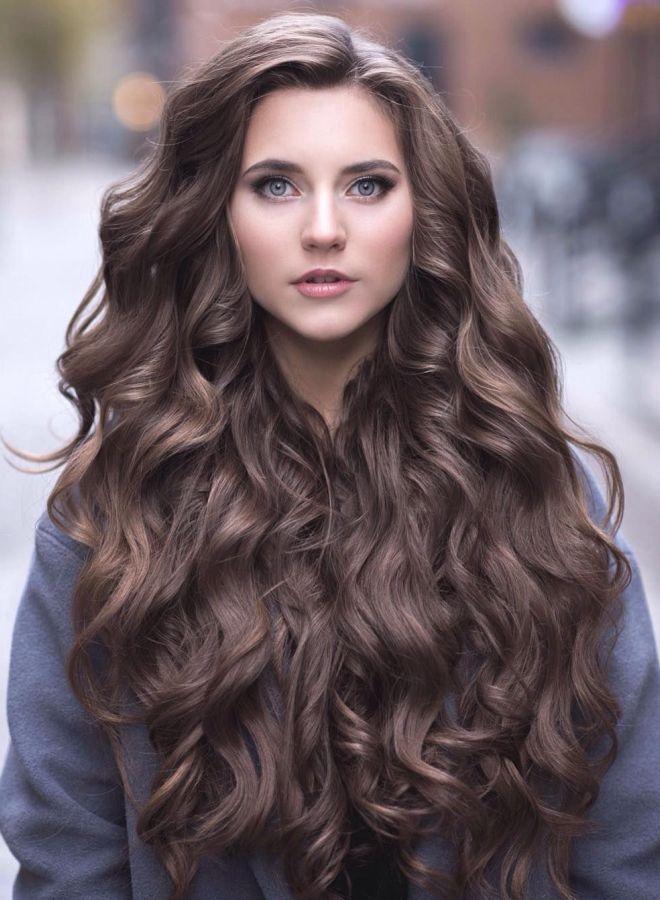 укладка на длинные вьющиеся волосы фото оказалось таким