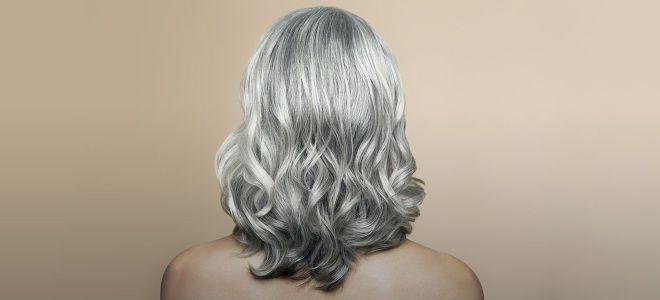 Варианты окрашивания седых волос шесть