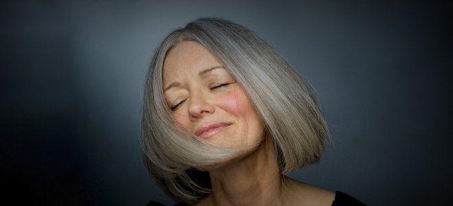 Варианты окрашивания седых волос семь