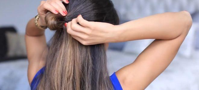 как сделать бант из волос пошаговая инструкция второй