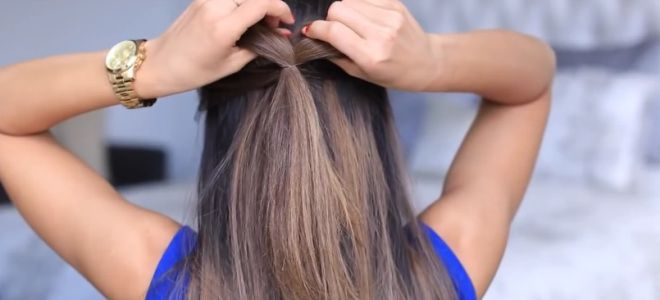 как сделать бант из волос пошаговая инструкция третий