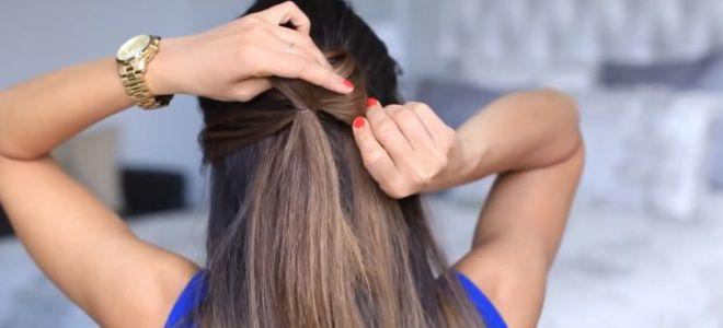 как сделать бант из волос пошаговая инструкция четвертый