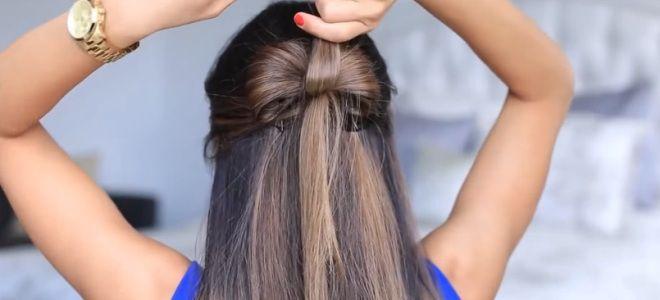 как сделать бант из волос пошаговая инструкция шестой