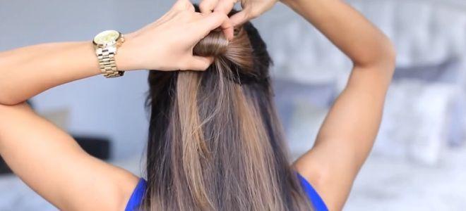 как сделать бант из волос пошаговая инструкция седьмой